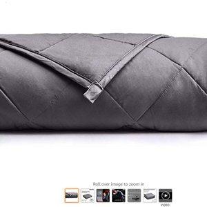 15 lb Weighted Blanket, Queen Size, Dark Gray
